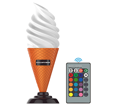 Remote Controller 16 Color Change Ice Cream Cone Lamp